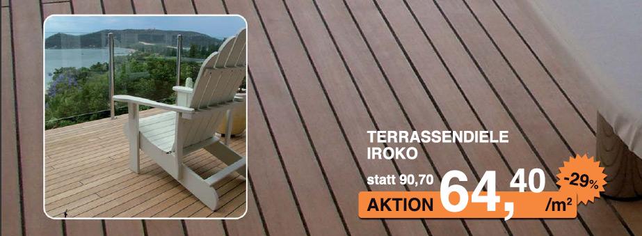Zahlreiche Terrassenhölzer von Wohngesund bis zu 44% vergünstigt!