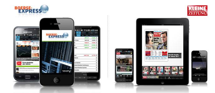 Mobile Apps für iPhone, iPad und andere Smartphones