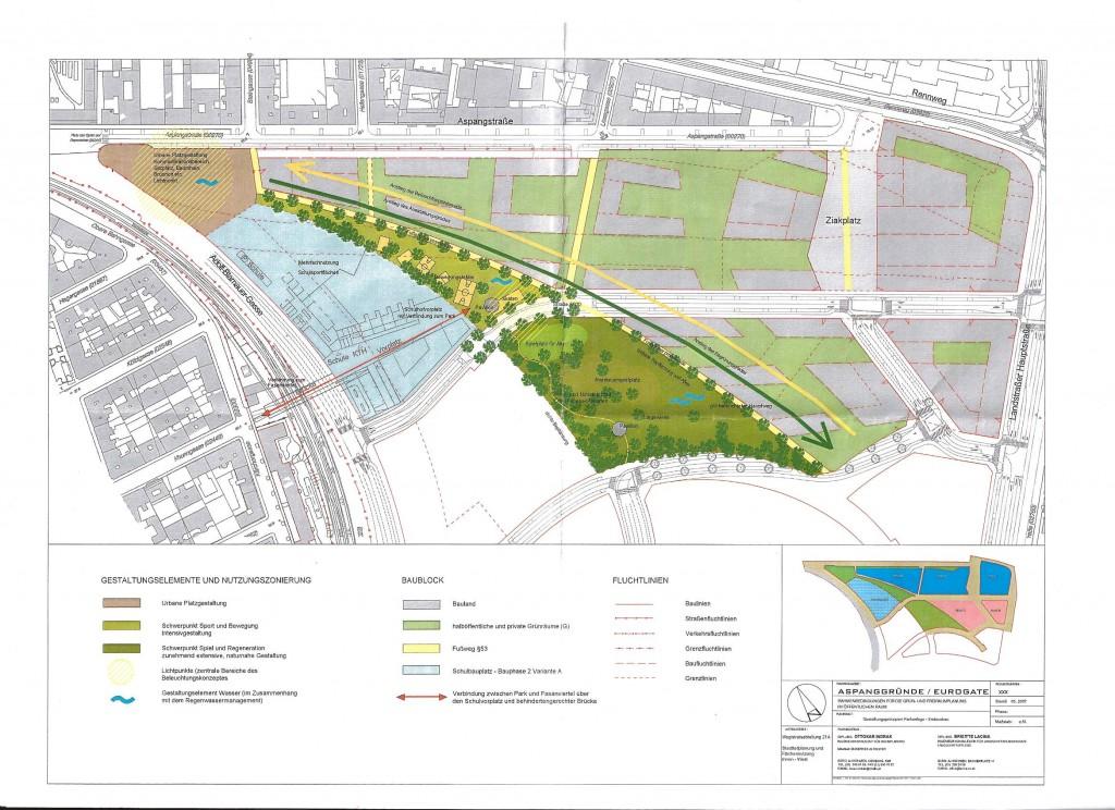 Ursprünglicher Plan des Leon-Zelman Parks
