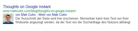 Autorenbilder in Suchergebnissen